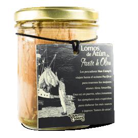 Lomo de atún en aceite de oliva vidrio