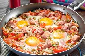 Atún con huevo