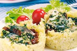 Canasticas de arroz con sardinas