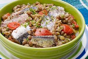 Lentejas con sardinas
