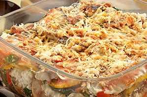 Molde de verduras y sardinas