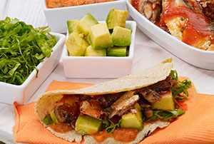 Tacos con sardinas