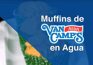Muffins de atun van camp's en agua