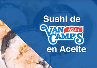 Sushi de atun van camp's en aceite