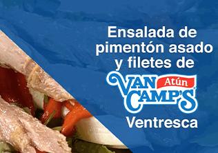 Ensalada de pimentón asado y filetes de Atún Ventresca