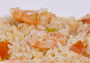 Como hacer arroz con camarones